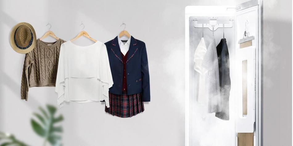 Conozca el nuevo armario que lava y plancha su ropa en segundos