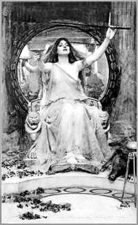 Las brujas fueron mujeres con conocimientos específicos en alquimia, con lo que elaboraban recetas de perfumería y cosmética. Desarrollaron técnicas  de destilación, extracción y sublimación. No eran personas feas ni malas, más bien fueron estereotipadas. Circe ofreciendo una copa a Ulises, de John William Waterhouse, 1891