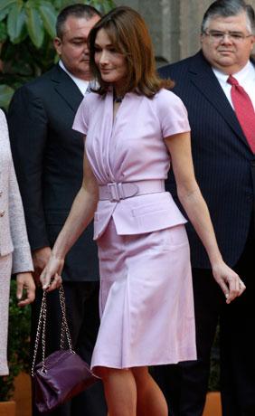 Carla Bruni, esposa del presidente Nicolas Sarkozy (foto Reuters)