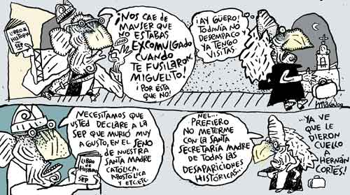 Hidalgo quiere sobrevivir (por Magú)
