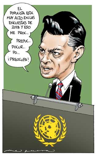 Discurso en la ONU - Helguera