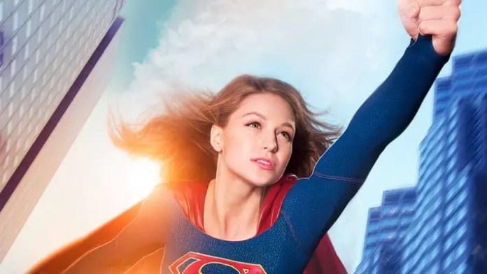 Foto promocional de Melissa Benoist como a Supergirl