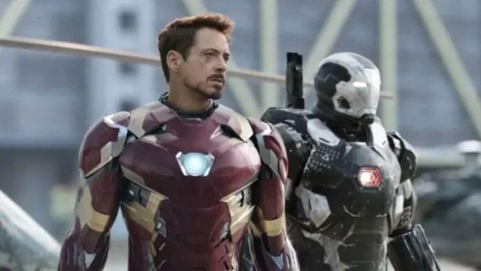 Homem de Ferro e Máquina de Combate em Guerra Cívil