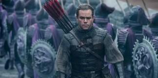 Matt Damon em cena do filme A Grande Muralha
