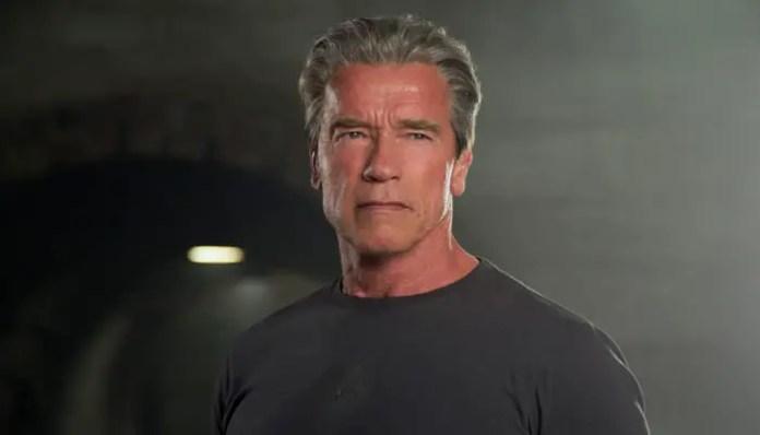 Arnold Schwarzenegger como o Exterminador em O Exterminador do Futuro