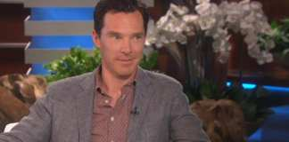 Benedict Cumberbatch em entrevista no The Ellen Show. Ator pode interpretar o 007