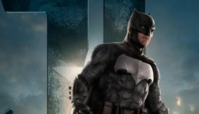 Ben Affleck como Batman em pôster da Liga da Justiça