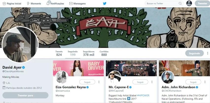 Pront da conta de seguidores de David Ayer