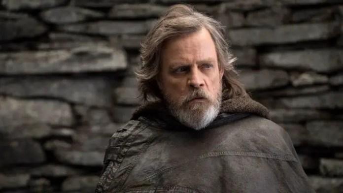 imagem promocional de Mark Hamill como Luke Skywalker