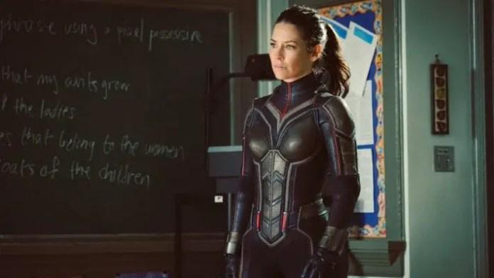 Imagem de divulgação de Evangeline Lilly em Homem-Formiga e Vespa
