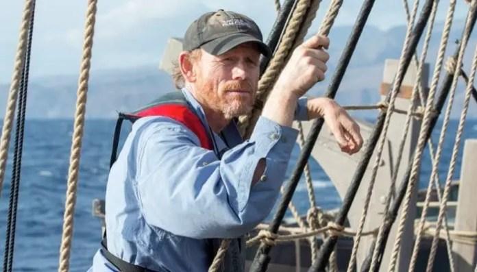 Ron Howard em bastidores do filme No Coração do Mar