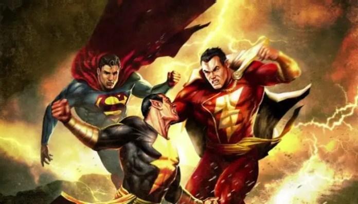 Superman e Shazam vs Adão Negro