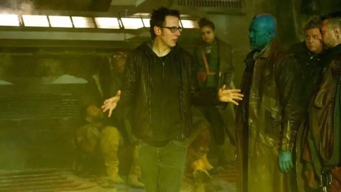 James Gunn no set de Guardiões da Galáxia Vol. 2