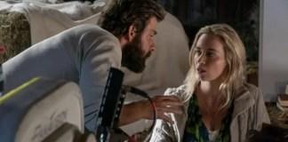 John Krasinski e Emily Blunt nos bastidores de Um Lugar Silencioso