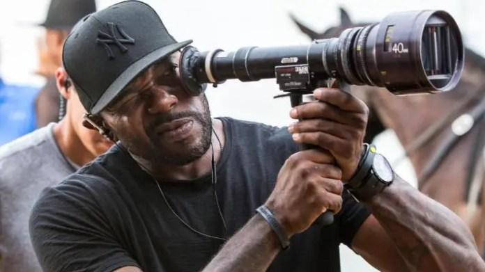 imagem do set de filmagens de O Protetor