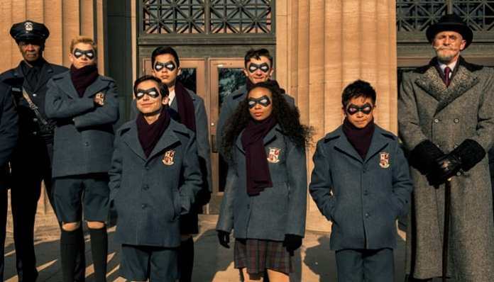 A equipe The Umbrella Academy