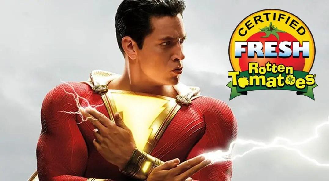 Shazam! recebe certificado Fresh do Rotten Tomatoes