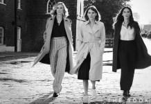 Emma Greenwell, Joely Richardson e Olivia Munn na série The Rook