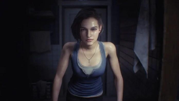 Imagem de Jill Valentine no início de Resident Evil 3