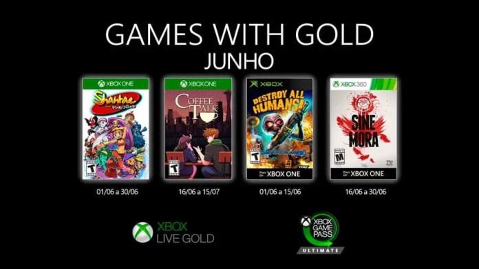 Jogos do Xbox Live Gold junho de 2020