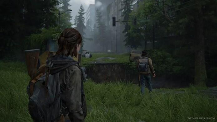 Ellie na ciade de Seattle em The Last of Us Parte II