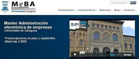 Master en Administración de la Empresa Electrónica de la Universidad de Zaragoza.
