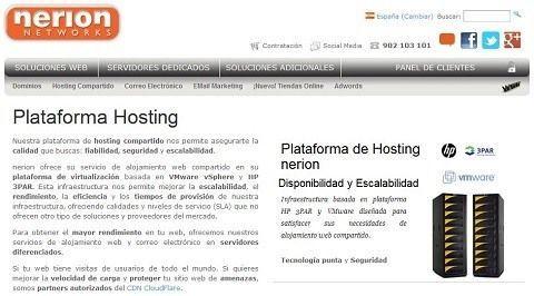 Nerion.es especialistas en hosting y registro de dominios