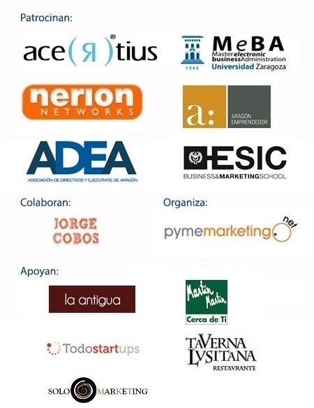 Patrocinadores jornadas marketing Internet en Zaragoza 2013