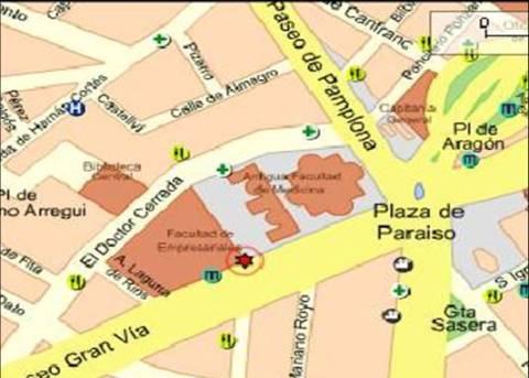 plano del  Campus Paraiso donde se encuentra la Facultad de Económicas