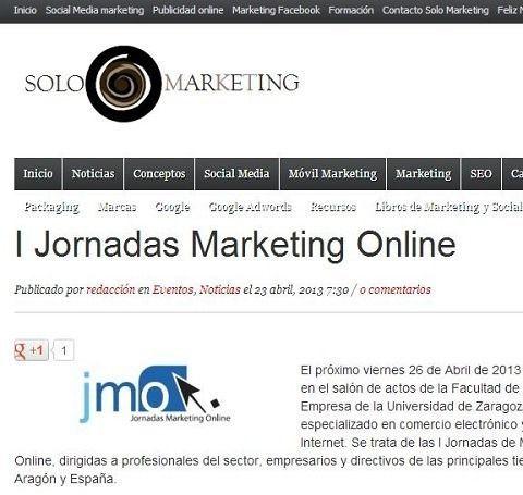 Solomarketing.es apoya las JornadasMarketingOnline.com