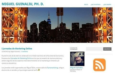 Miguel Guinaliu, Profesor de Marketing, cita a Jornadasmarketingonline.com en su blog.