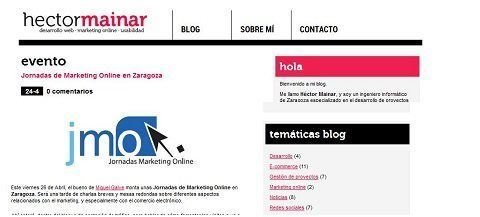 El blog de Hector Mainar cita las JornadasMarketingOnline.com