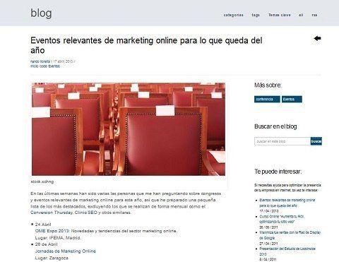 El blog Me gusta el turismo cita las JornadasMarketingOnline.com