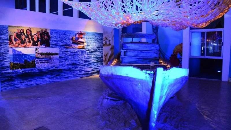 Exposição 'Fúria da Sereia' fica até o dia 16 de fevereiro na Estação das Artes