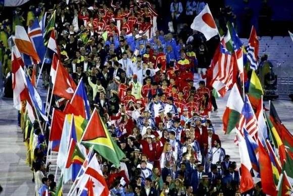 Delegações dos países que participaram da Rio 2016 desfilam no MaracanãReuters/Vasily Fedosenko/Direitos Reservados