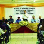 O ministro de Estado da Educação, Rossieli Soares da Silva, esteve em Brumado para assinar o termo de Compromisso para implantação do curso de graduação em Medicina na cidade. Foto: Natalia Silva