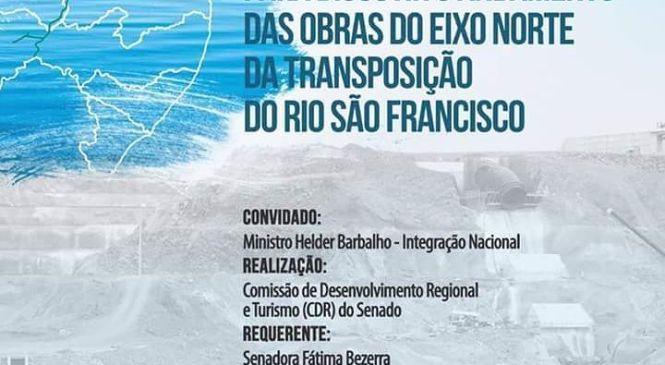 Transposição: CDR debaterá as obras do Eixo Norte