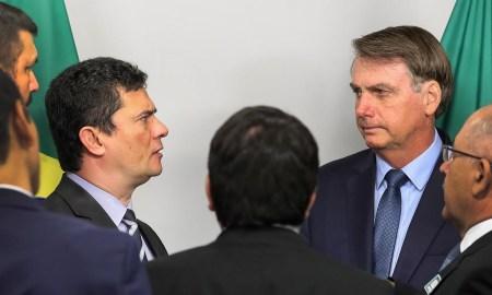 05.02.2020 - Brasília/DF - Reunião de Jair Bolsonaro com Sergio Moro e secretários. Foto: Marcos Corrêa/PR