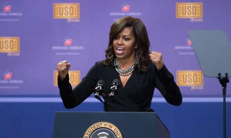 05.05.2016 - Washington/EUA - Michelle Obama discursa na capital americana. Foto:: EJ Hersom