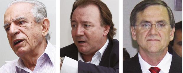 Iris Rezende (governo), Júnior Friboi (vice-governador) e Antônio Gomide (senador): esta a chapa dos sonhos do primeiro | Fotos: Fotos: Fernando Leite/Jornal Opção