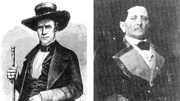 Sam Houston, general e político americano, e Antônio López de Santa Anna, general e político mexicano: guerreiros de verdade do século 19. Oprimeiro acabou por prender o segundo