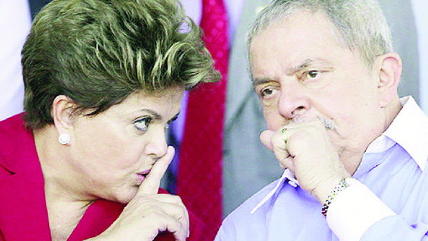Dilma Rousseff e Lula da Silva: a primeira radicalizou o apoio às ditaduras; o segundo mantinha relação positiva com George W. Bush