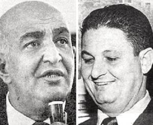 Jorge Curi e Waldir Amaral: os dois principais narradores esportivos da era de ouro da Rádio Globo. Fotos: Agência O Globo
