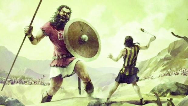 Representação clássica da batalha entre o pastor Davi e o gigante Golias não é, segundo o escritor inglês Malcolm Gladwell, exatamente real