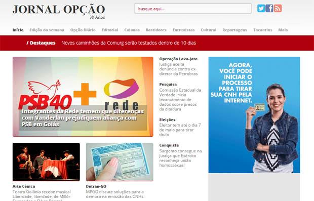 """""""Nota dez para o novo Jornal Opção Online"""""""