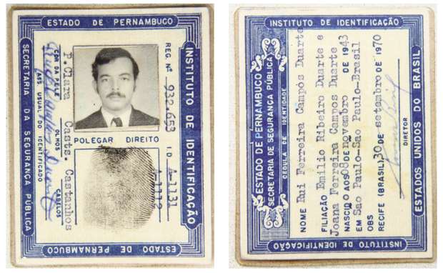 RG falso era um dos instrumentos que perseguidos usavam para fugir dos militares, sobretudo para outros países | Reprodução/Fernando Leite/Jornal Opção