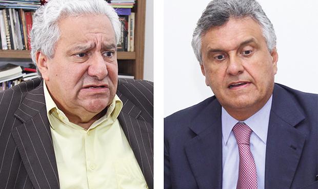 Vilmar Rocha (PSD)e Ronaldo Caiado (DEM): possível chegada do segundo mexe com a pretensão do primeiro