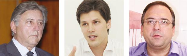 """Deputado Francisco Gedda: """"Júnior Friboi é candidatíssimo"""" Deputado Daniel Vilela: fragilidade para um embate majoritário  Deputado Sandro Mabel: """"Quero mexer com isso daí, não"""""""