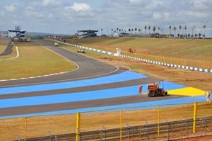 Pista do modernizado Autódromo Internacional de Goiás