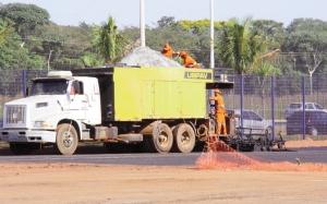 Obras do autódromo em fase final: custo de R$ 52 milhões em 2 licitações